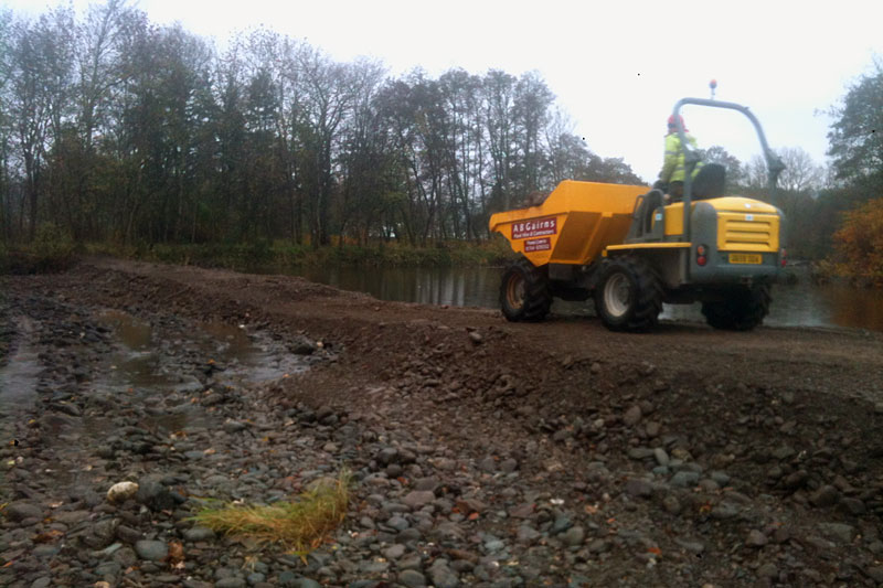 AB Gairns - Flood defence - Comrie